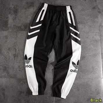 ADIDAS Woman Men Fashion Running Pants Trousers Sweatpants Black
