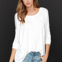 I'm a Believer Ivory Long Sleeve Top