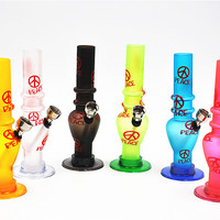 1 X Acrylic Water Smoking Pipe Portable Water Tobacco Pipe Smoking Sets Gift Several Styles Available Color Random