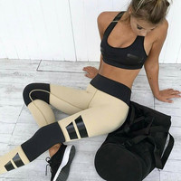 2017 Exercise Fitness Gym Yoga Running Leggings Sweatpants [10320687430]