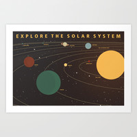 Explore the Solar System Art Print by jwcole
