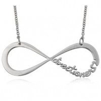 One Direction Stainless Steel Infinite Directioner Necklace 6.7 Grams 23.4 Inches Width 2.34 Inches