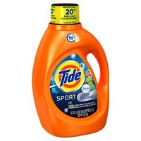 Tide Plus Febreze Sport Active Fresh High Efficiency Liquid Laundry Detergent - 92 oz