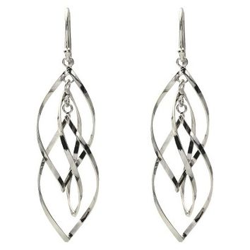 Women's Tressa Collection Sterling Silver Twisted Dangle Earrings - Silver