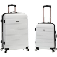 Rockland Luggage 20 Inch and 28 Inch 2 Piece Expandable Spinner Set White One Size '