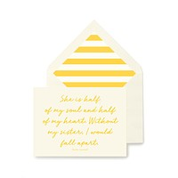 She Is Half of my Soul and Half Of My Heart Greeting Card, Single Folded Card or Boxed Set of 8