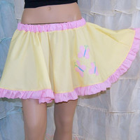 MLP Fluttershy Applique Yellow Circle Skirt Adult ALL Sizes - MTCoffinz