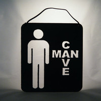 Man Cave Sign Metal Art by MetalArtXpressions on Etsy