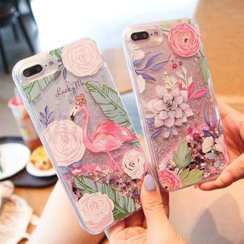 Cartoon Unicorn Flamingos Dynamic Phone Cases