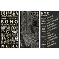 Printed Canvas 3 Pack - NYC 12x24