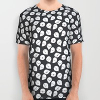 CUTE GHOST PARTY (BLACK) All Over Print Shirt by Claudia Ramos Designs | Society6
