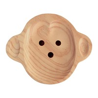 Kids Wooden Plate ~ Monkey