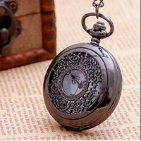 Oiled Bronze Scroll Detail Classic Pocket Watch