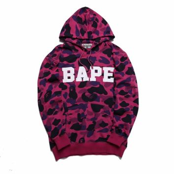 BAPE Casual loose long-sleeved printing sweater