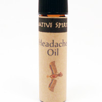 HEADACHE OIL - Native Spirit Herbal Oil for Headaches & Migranes