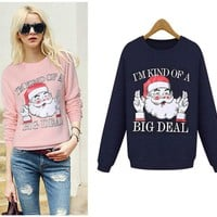 Day-First™ Realest Santa Sweatshirt Funny Christmas Pullover Fleece Sweater