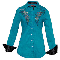 Roar Fire N Blaze Teal Women's Shirt