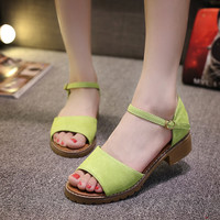 Summer Casual Buckle Strap Shoes