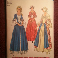 Uncut 1970's Simplicity Sewing pattern, 6787! Size 14 Bust 36 Medium/Women's/Misses/Bicentennial Costumes/Late 1800's/Early 1900's Dresses