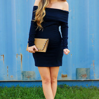 Show Me The Way Dress: Navy