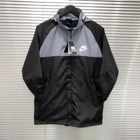 """Nike"" Unisex Sport Casual Multicolor Letter Webbing Hooded Long Sleeve Couple Zip Jacket Windbreaker Coat"