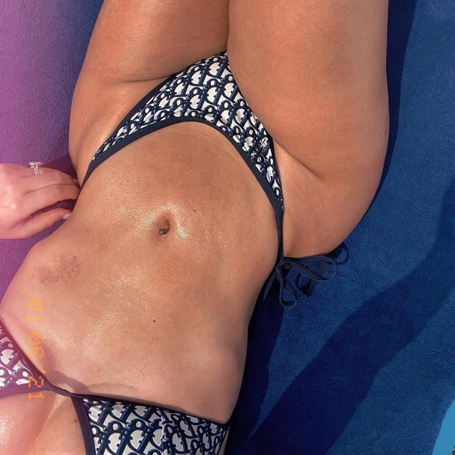 Image of DIOR Fashion casual split swimsuit