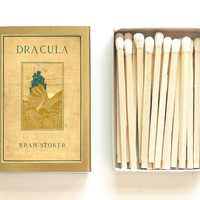 Dracula - Book Covered Matchbox - Bram Stoker - Halloween Party Favor - Scary Stories - Pair with a Candle - Light a Spooky Spark