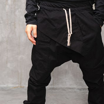 Dark Drop Crotch Tapered Trouser