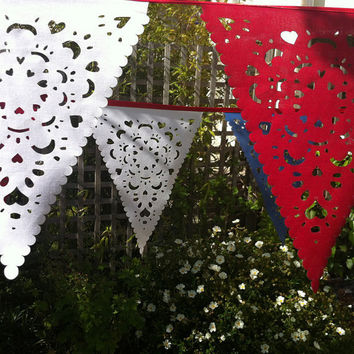 Festival Bunting, vintage style decor