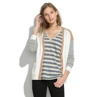 Journal Cardigan in Colorblock - cardigans - Women's SWEATERS - Madewell