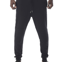 The Hulk Biker Stitch Sweatpants in Black