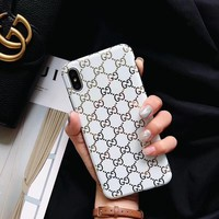 GUCCI GOLD MONOGRAM CASE