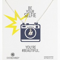 Women's Dogeared 'Reminder - Be Your Selfie' Hashtag Pendant Necklace (Nordstrom Exclusive)