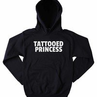 Tattooed Princess Sweatshirt Punk Soft Grunge Clothing Alternative Tumblr Hoodie