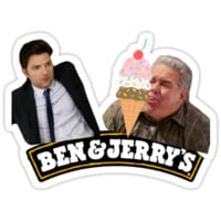 Parks And Rec Ben & Jerry's Ice Cream by lights and glowsticks