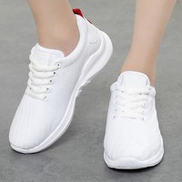 Women Sneakers white Air Mesh Ladies Casual Shoes female Trainers Wedges Lace Up Basket Femme Zapatillas Deportivas Mujer