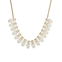 Tallulah Tu White Shimmer Pearl Statement Necklace - White
