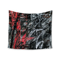 """Bruce Stanfield """"Areus"""" Red Abstract Wall Tapestry"""
