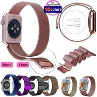 For Applewatch Milanese Magnetic Loop Stainless Steel Watch Band Strap For iWatch 38mm&42mm [8833617932]