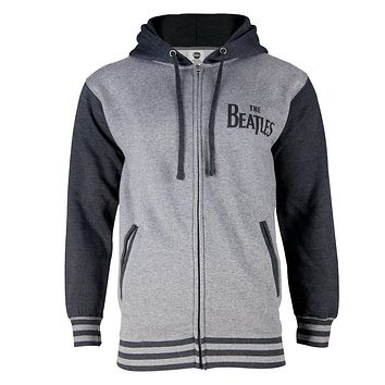 The Beatles - Color Block Varsity Adult Zip Hoodie