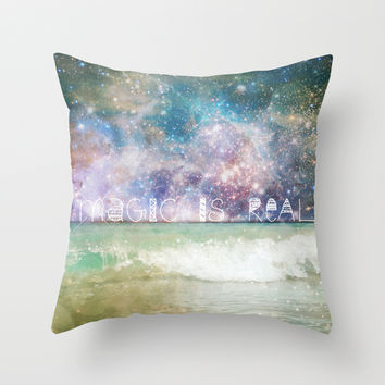 Magic Is Real II Throw Pillow by Jenndalyn
