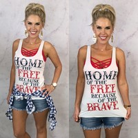 Home of the Free Because of the Brave: White