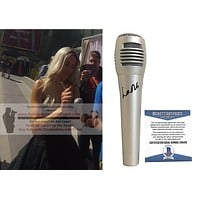 Lana Autographed Pyle Microphone, WWE Diva, Proof, Beckett S38436