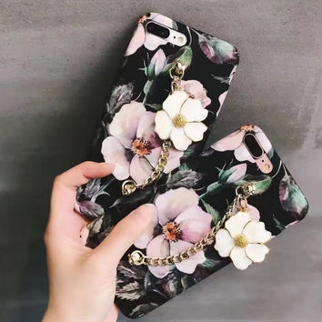 Customized Floral iPhone 7 7Plus & iPhone se 5s 6 6 Plus Case Best Protection Cover +Gift Box-127