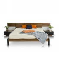 Modrest Rondo Modern Bed with Nightstands - Eastern King