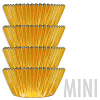 Mini Gold Foil Baking Cups