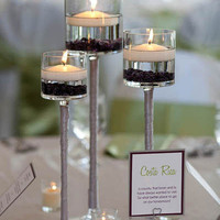 Tall Glass Cup Vase Tealight Candle Holder Table Centerpiece
