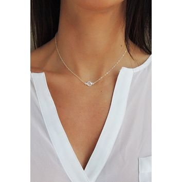 Crystal Solitaire Necklace - Christine Elizabeth Jewelry