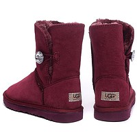 UGG Fashion Women Fur Leather Wool Snow Boots Half Boots Shoes