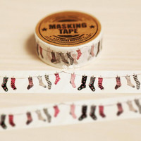 1.5cm Wide My Cute Socks Washi Tape Adhesive Tape DIY Scrapbooking Sticker Label Masking Craft Tape